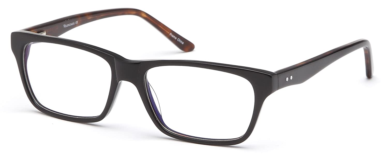 62896f68ce6b Women s Wayfarer Black Glasses Frames Prescription Eyeglasses Size 54-17-140   Amazon.in  Clothing   Accessories