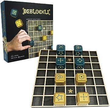 PROJECT GENIUS, Art. Deblockle - El Juego del Trineo y Rueda - Juego de Mesa estratégico en 3D - Juego de Madera para 2 Jugadores: Amazon.es: Juguetes y juegos