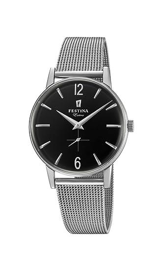 Festina Reloj Análogo clásico para Hombre de Cuarzo con Correa en Acero Inoxidable F20252/4: Festina: Amazon.es: Relojes