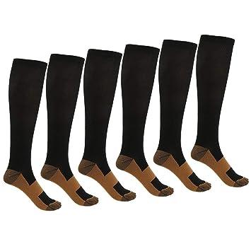 Iraza 3 Pares de Calcetines de Compresión, para Hombre y Mujer, Deporte, Running