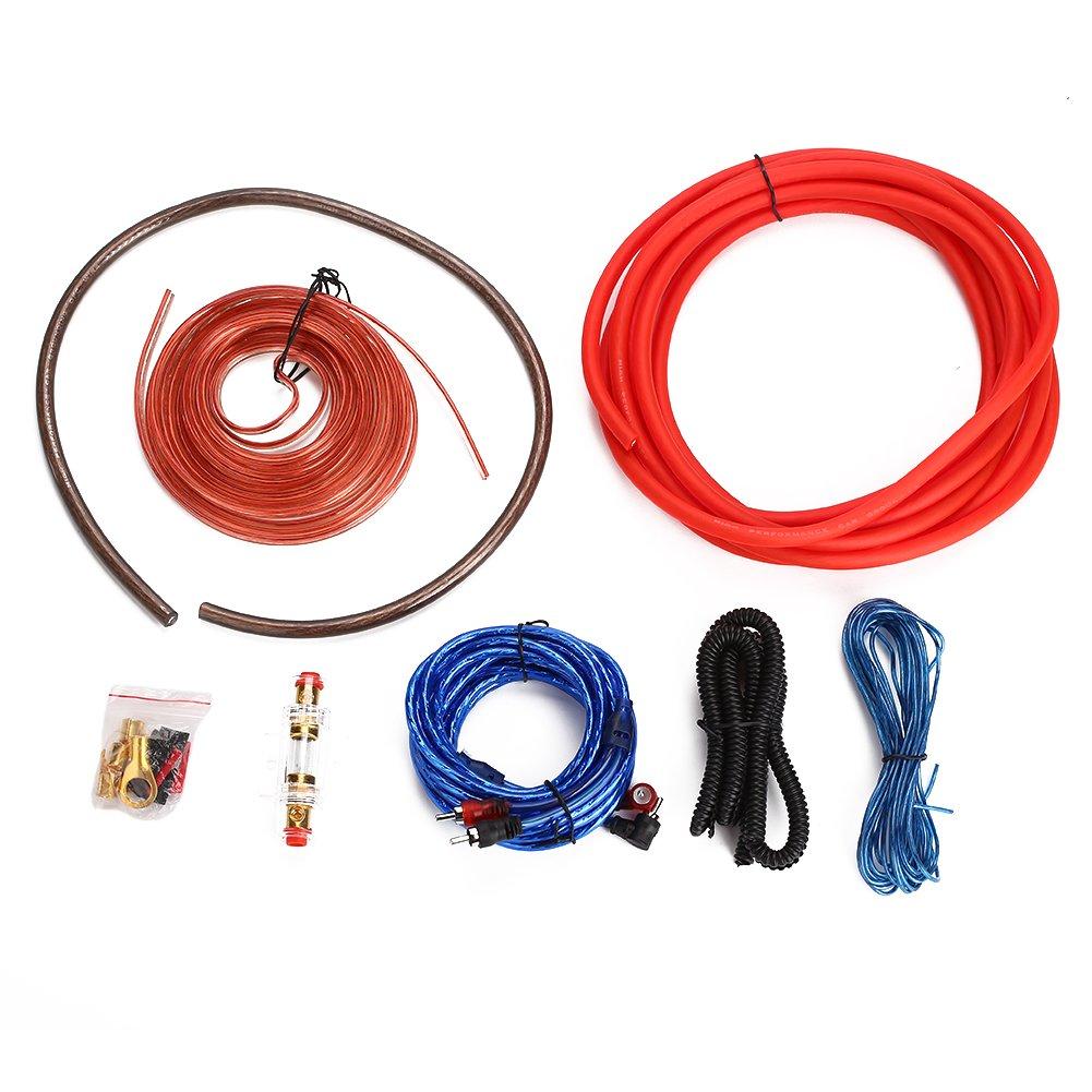 Sedeta Amplificador de kit de amplificador de calibre 4 SoundBox Connected instalar cableado completo 4 Ga Wire 2200 vatios de potencia m/áxima