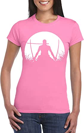 Pink Female Gildan Short Sleeve T-Shirt - Zoro – Half Circle design
