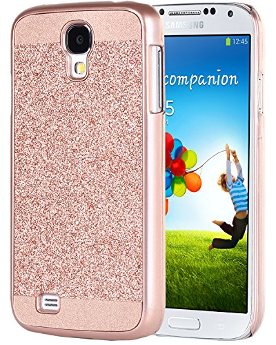Galaxy S4 Case, Samsung Galaxy S4 Case, BENTOBEN Glitter Luxury Shiny Bling Hard PC Case Slim Fit Sparkly Protective Case Cover for Samsung Galaxy S4, Rose Gold