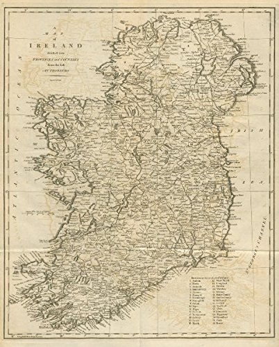 Map Of Ireland With Counties And Provinces.A Map Of Ireland Divided Into Provinces And Counties By John