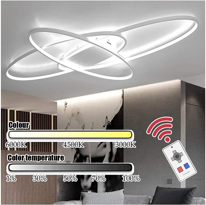YesVCTR Aumentar Oval Blanco LED de Techo Alto Brillo del