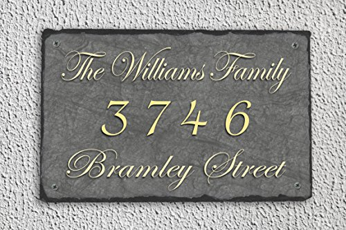 Fully Customizable Slate Home Address (Customizable Address Plaque)