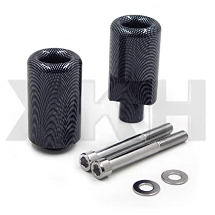 XKH Replacement of Motorcycle No Cut Frame Slider Protector For 2003 2005 Yamaha Yzf R6 2006 2009 R6S Carbon Fiber new