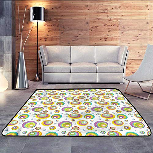 (Silky Smooth Bedroom Mats,Geometric,Abstract Vortex StyleW 78.7