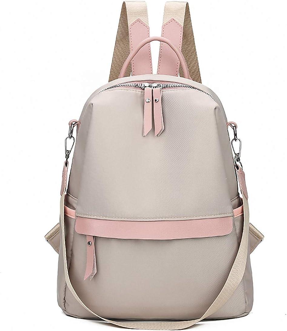 GuaziV Backpack Purse for Women Nylon Anti-theft Waterproof Fashion Bag Lightweight School Shoulder Bags (Khaki 01)