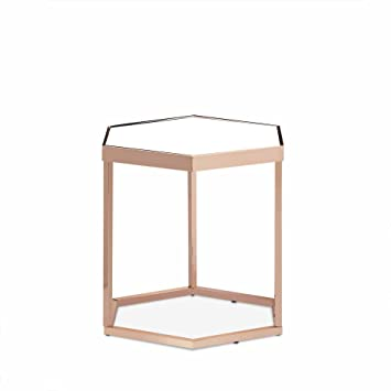 Fantastic Ottmar Hexagonal Glass Side Table Metal Frame Modern Design German Language Product Image Has Been Mirrored Secure Glass Copper Metal Home Interior And Landscaping Ologienasavecom