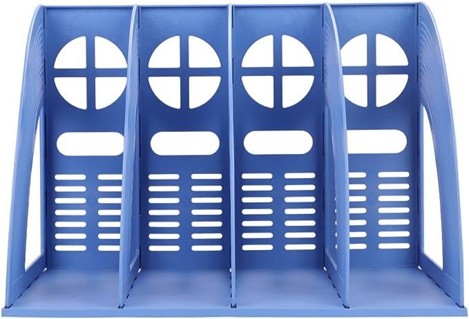 Schreibtischordner Und Aufbewahrung Zeitschriftenhalter Schreibtisch-Ordner B/ücherbeh/älter Mappenhalter Zeitschriftenaufbewahrungsbox Zeitschriftenst/änder F/ür Zuhause Und B/üro,Grau,2 unit