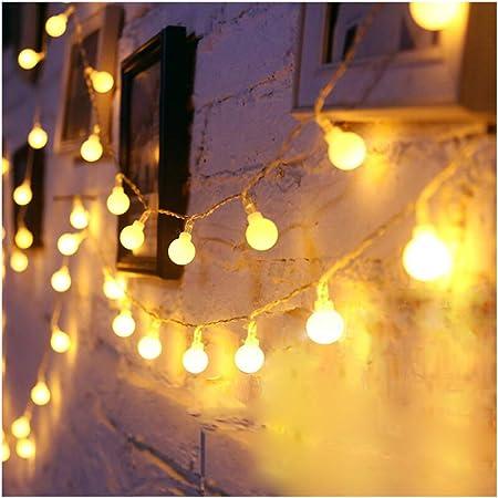 Bombilla De Luz Blanca De Navidad Cadena De Luz LED Jardín Festival Lámpara De Cuerda Boda Fiesta De Cumpleaños Decoración Araña TIK Tok/INS Foto Luz De Fondo/Batería,Battery-10m80lights: Amazon.es: Hogar