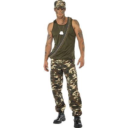Traje de soldado vestuario uniforme militar atuendo: Amazon ...
