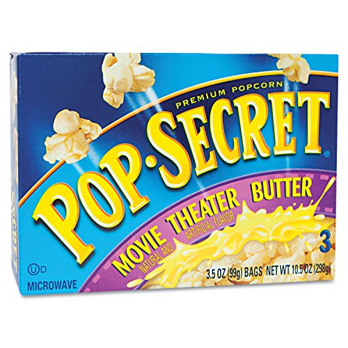 Microwave Popcorn Movie Theater Butter 3.5 oz Bags 3 Bags/Box