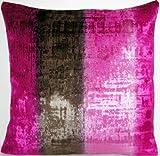 Shimmering Velvet Decorative Pillow Case Designers Guild Raspberry Stripes Cushion Cover Phipps