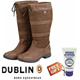 WATERPROOF Dublin River Boots Wide and Standard ALL SIZES - Chocolate - FREE NIKWAX GIFT