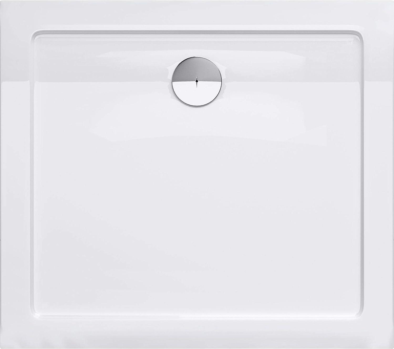 Bonde AL02 Bac /à douche 90x100 receveur de douche antiglisse rectangulaire blanc Sogood Lucia04AR 90X100X4