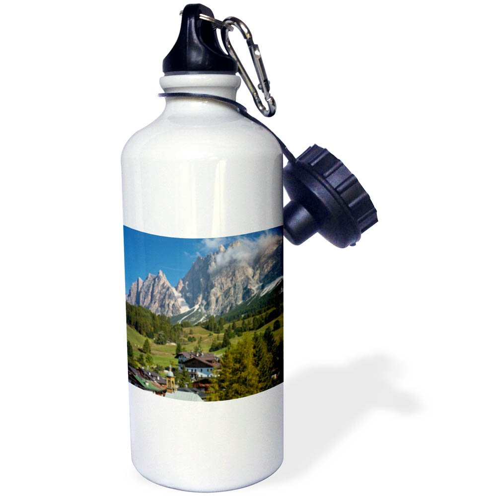 3dRose Danita Delimont - Mountains - Chiesa di Santa Giuliana, Monte Cristallo, Belluno, Italy - 21 oz Sports Water Bottle (wb_277561_1)