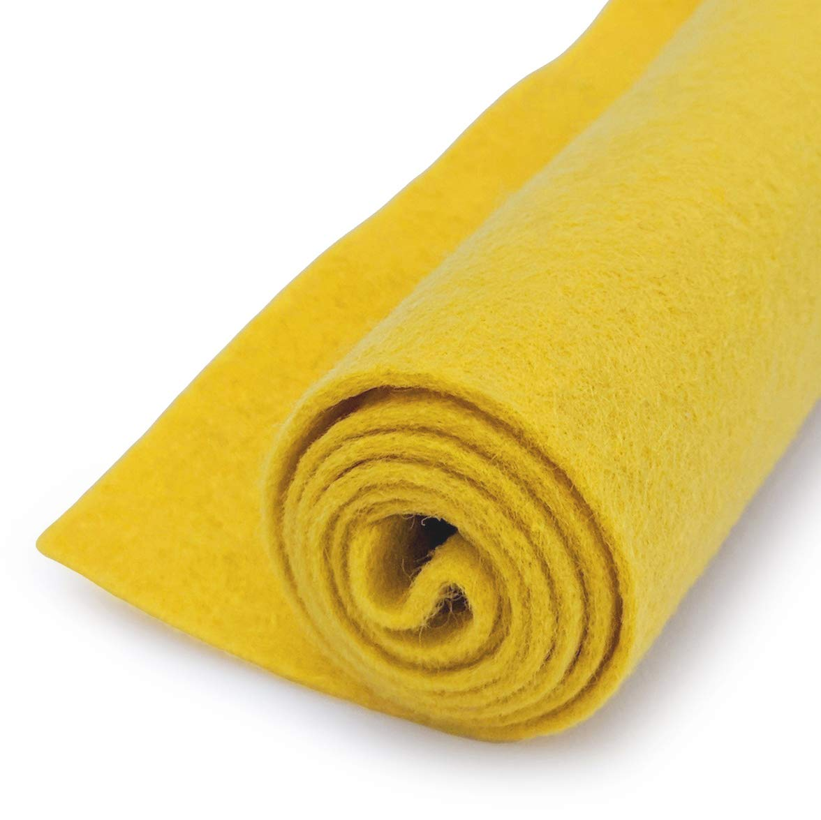 Yellow - Wool Felt Oversized Sheet - 20% Wool Blend - 36 in x 36 in Sheet