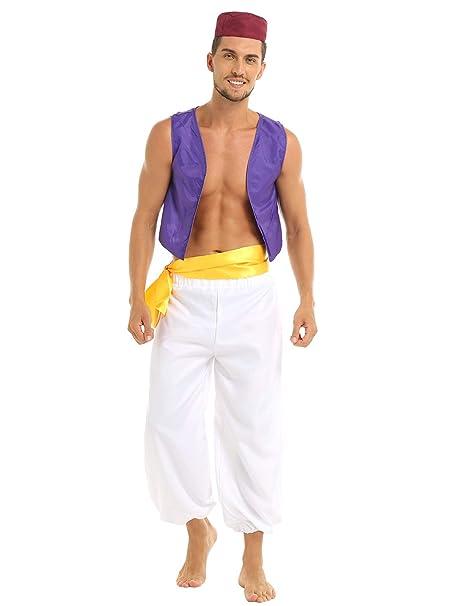 Amazon.com: iiniim Disfraz de príncipe árabe para adultos ...
