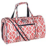 Personalized Coral Vine Overnight Travel Duffel Bag 17.5″ Review