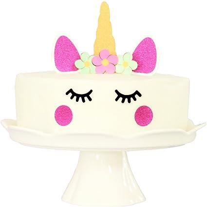Amazoncom Premium Sparkle Unicorn Cake Topper Decorating Set