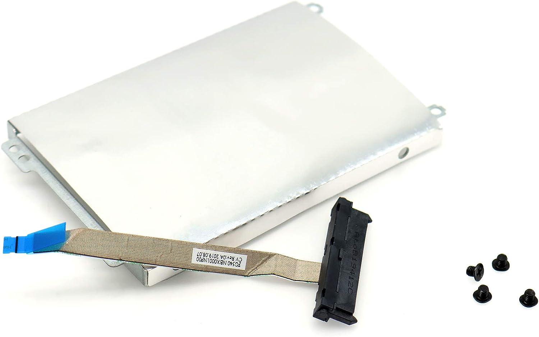 """Deal4GO 2.5"""" HDD Hard Drive Caddy Bracket w/SSD SATA Hard Drive Cable for Lenovo Ideapad L340 L340-15 L340-15IRH L340-17 L340-17IRH NBX0001NP00"""