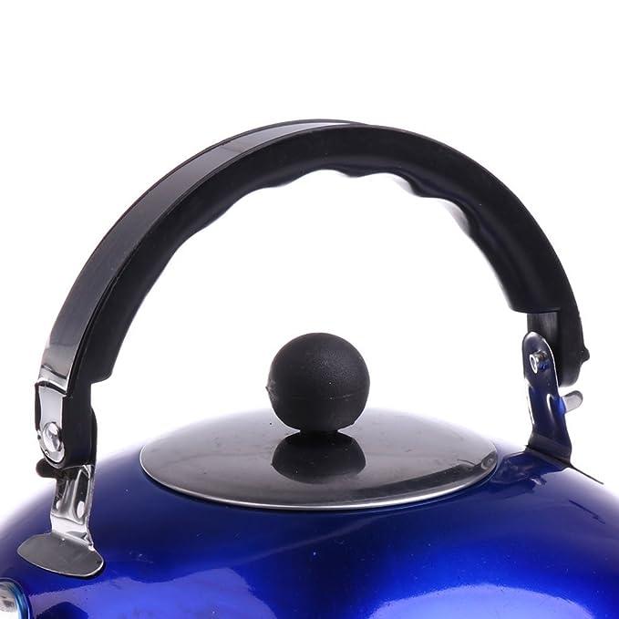 3l agua y camping para uso al aire libre azul SGerste Tetera de acero inoxidable resistente a la corrosi/ón para silbatos de caf/é