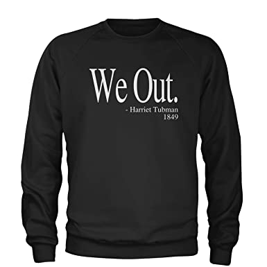 2ec5e753 Expression Tees Crew (White Print) We Out Harriet Tubman Adult Small Black