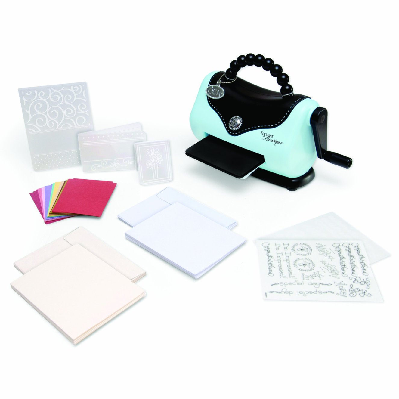 Sizzix 656280 Texture Boutique Embossing Machine Beginner's Kit