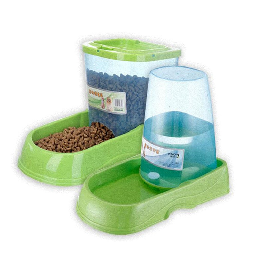 QWERTY WANG Gravity Pet Feeder And Waterer Water Station Food Dispenser Bowl Gourmet Combo For Dog Cat Animal