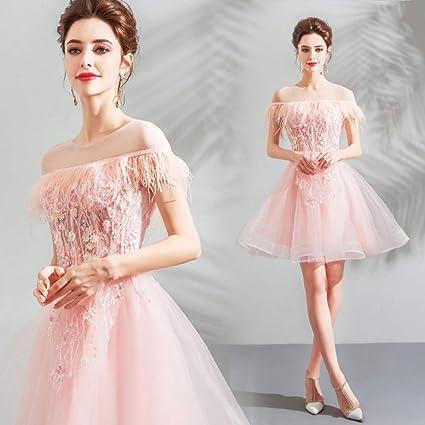 Rabatt bis zu 60% UK Verfügbarkeit weltweit bekannt QAQBDBCKL Kleid Partykleid Mädchen Herz rosa Feder Kurze ...