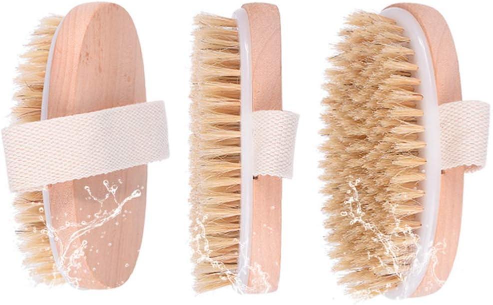jky K/örperb/ürste Nat/ürlichen Borsten R/ückenmassage Handschuhe R/ückenb/ürstel Massage Trockenb/ürste Entfernen abgestorbener Haut