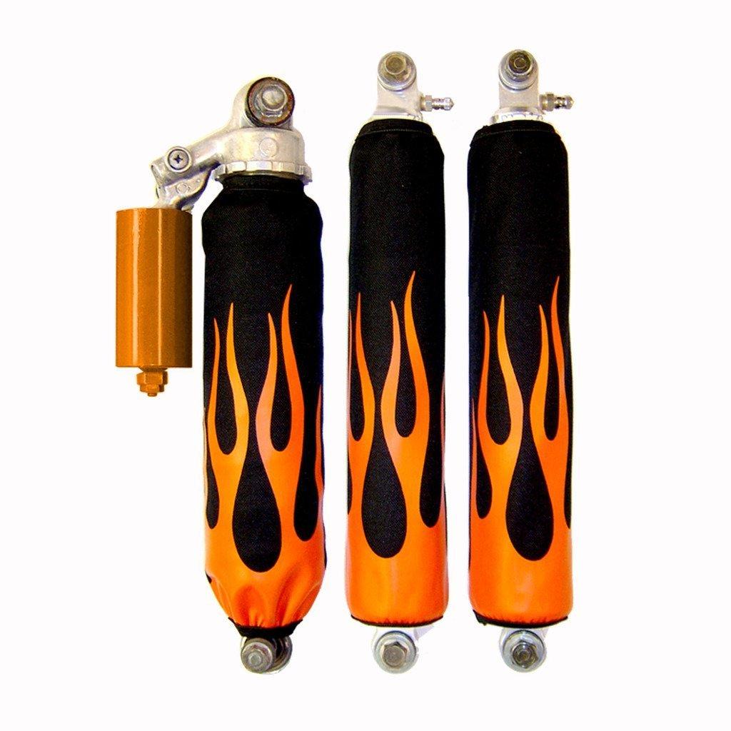 Orange Flame Shock Covers Yamaha Banshee Raptor 660