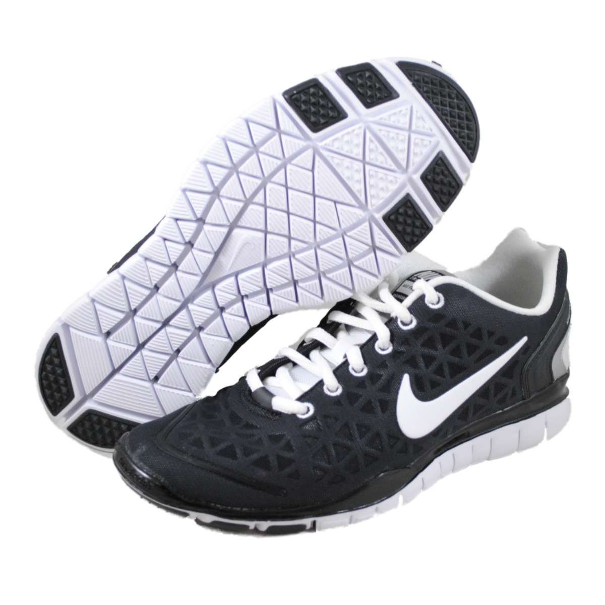 cheap for discount 5da88 d8c41 Womens Nike Free TR Fit 2 Running Shoes Black / White / Metallic Silver  487789-008 Size 7