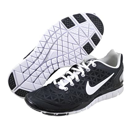 pas cher pour réduction b686a 9f6fa Womens Nike Free TR Fit 2 Running Shoes Black / White / Metallic Silver  487789-008 Size 7