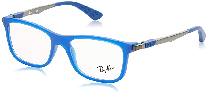 Ray-Ban Jr. Eyeglasses RY1541 3618 Azure Fluo Trasparent Rubber 49 ...