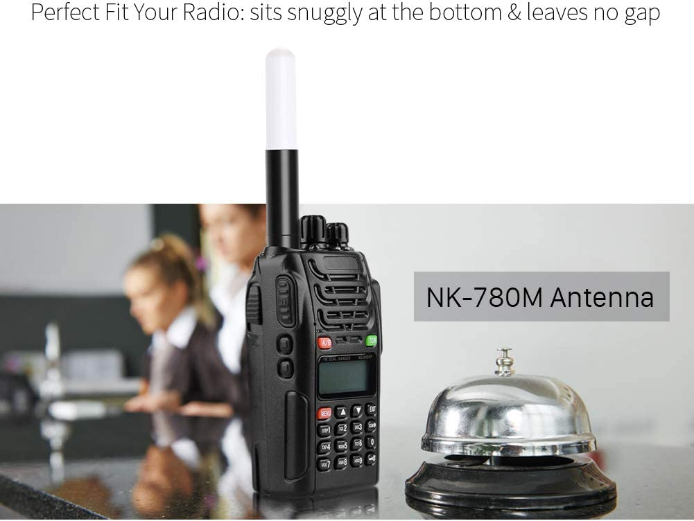 1.8 8W NK-761M NKTECH Mini SMA-Female Antenna VHF UHF 144//430Mhz for BaoFeng BF-F8HP UV-82HP BF-888S UV-5R UV-82 UV-82C UV-5X3 DMR-6X2 DM-1701 DM-1801 DM-5R GT-3WP H-777 Radios