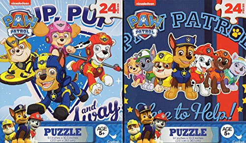 Paw Patrol - 24 Pieces Jigsaw Puzzle - (Set of 2 Puzzles)