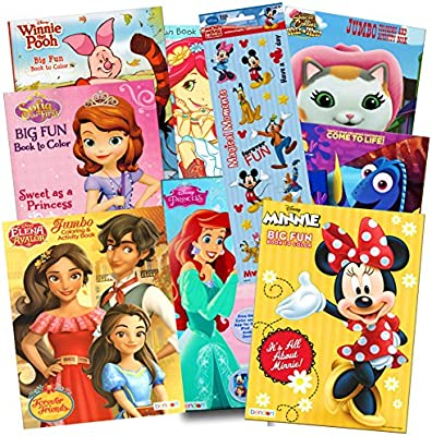 - Amazon.com: Disney Coloring Books For Kids Toddlers Bulk Set Bundle -- 8 Disney  Books With Stickers And Door Hanger (Minnie Mouse And Friends): Toys & Games