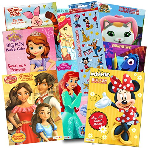 Hanger Door Princess (Disney Coloring Books for Kids Toddlers Bulk Set Bundle -- 8 Disney Books with Stickers and Door Hanger (Minnie Mouse and Friends))