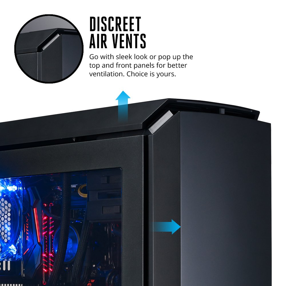 Amazon.com: MasterCase Pro 6 ATX Mid-tower Computer Case with Blue LEDs and Seamless Air Ventilation Design: Computers & Accessories