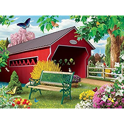 MasterPieces Lazy Days Jigsaw Puzzle, Springtime, Featuring Art by Alan Giana, 750 Pieces: Toys & Games