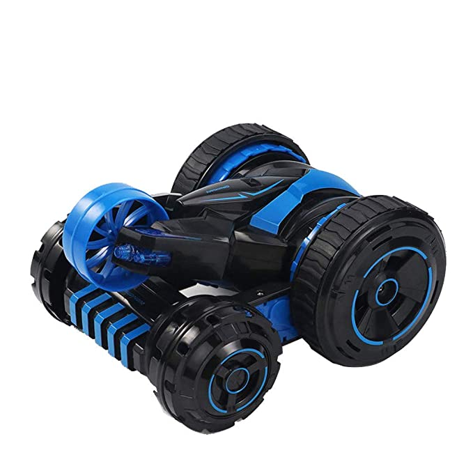 Amazon.com: LtrottedJ Remote Control Car 6 Channel 5 Wheel 360°Flip Stunt Truck RC Electric Toy Gift: Toys & Games