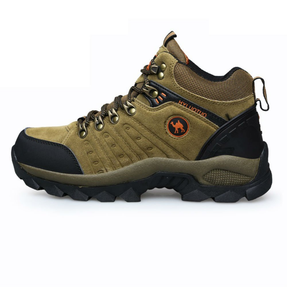 3C Camel HUAYU 5696 Mens Walking Hiking Trail Waterproof Ventilated Mid high-Cut Brown Boots 7, Brown