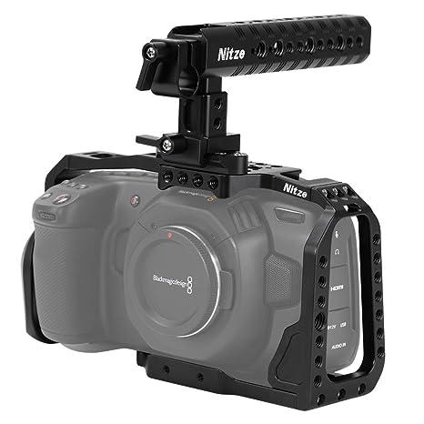 Nitze BMPCC - Jaula de cámara 4K para cámara Blackmagic Pocket ...