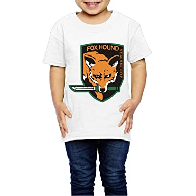02d19eaba7e6 Amazon.com  Fox Children s T-Shirt Pretty 100% Cotton Round Collar ...