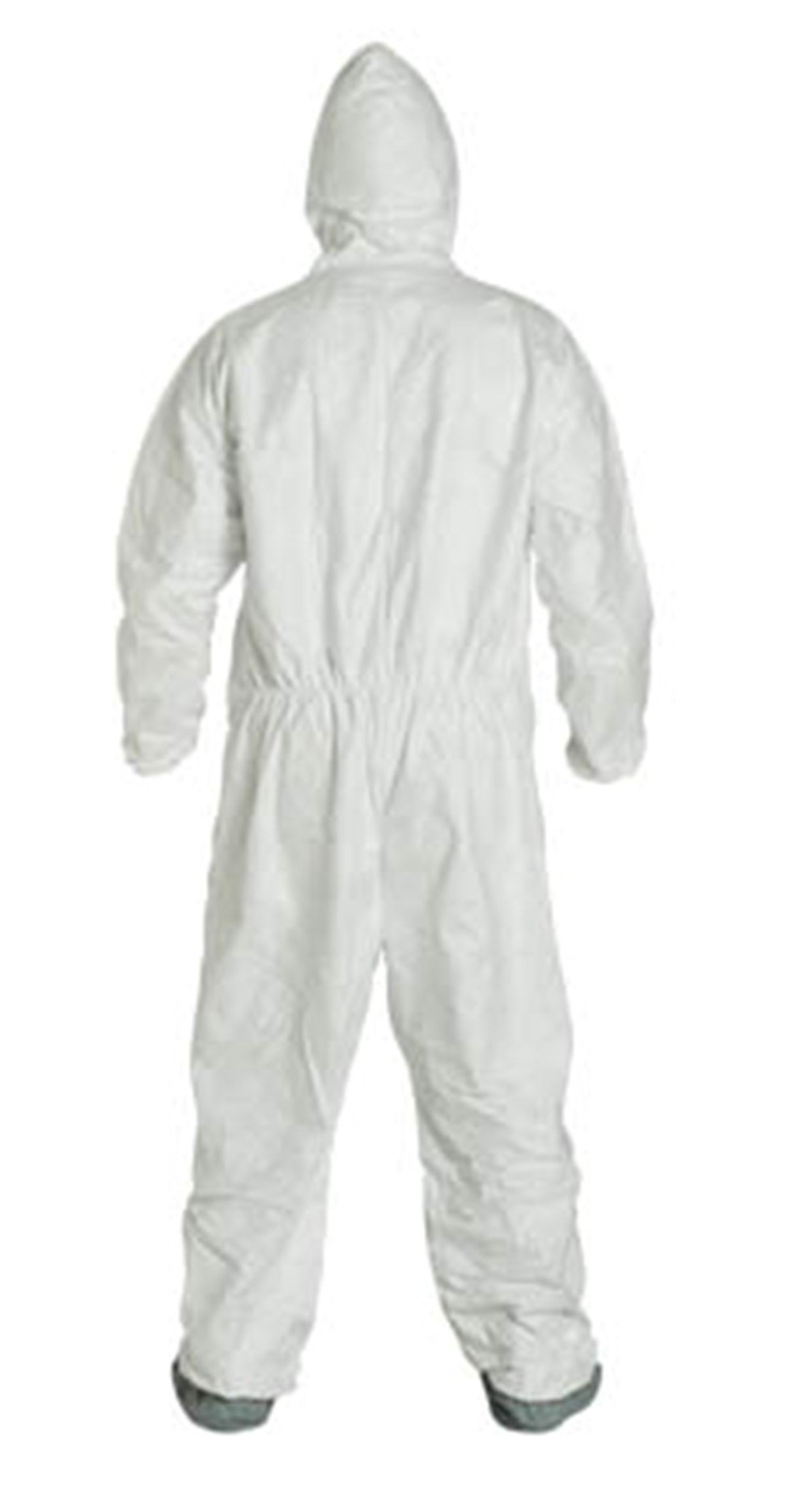 2XL Tyvek Coverall W/ Hood, Zipper, Elastic Wrist & Ankle, With Attached Booties (2XL-25 Suits / 1 Case) TY122S WH-2X-CASE by Tyvek (Image #4)