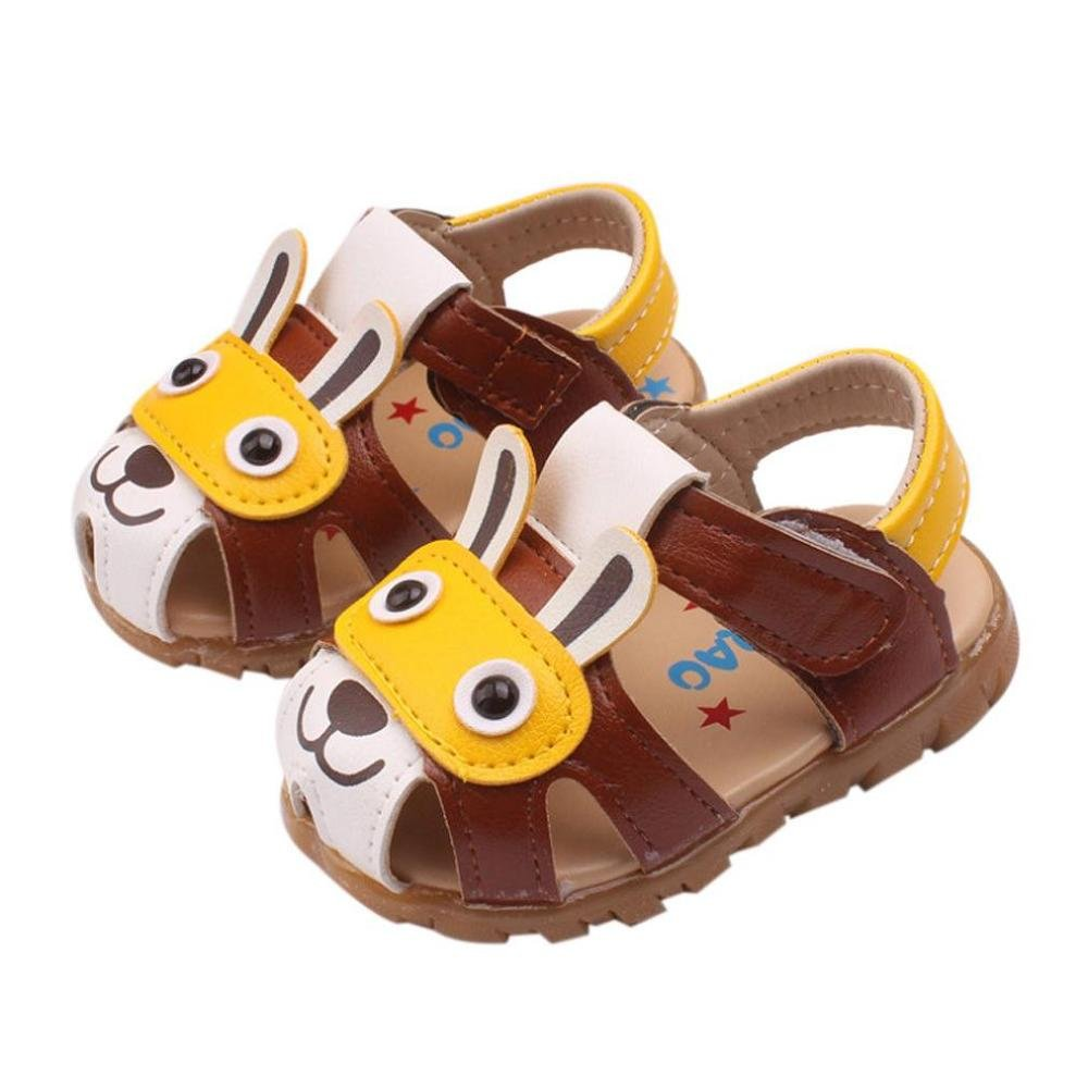 Reasoncool Toddler Baby Boys Light up Baby Shoes Cartoon Shoes Summer Shoes with Flashing Lights Sandals