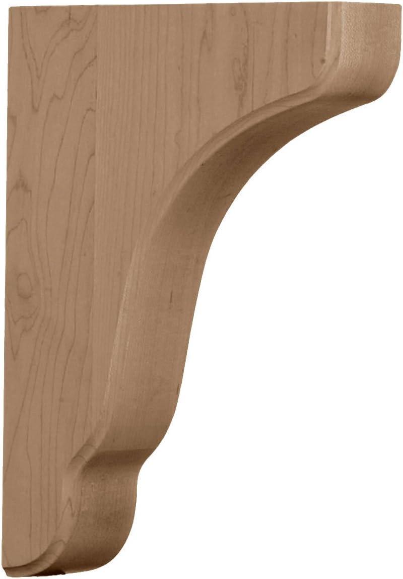 Rubber Wood Ekena Millwork BKTW02X07X10PLRW  1 3//4-Inch W by 7 1//4-Inch D by 9 1//2-Inch H Plymouth Wood Bracket